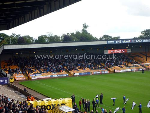 Away fans at Vale Park for the Wigan match