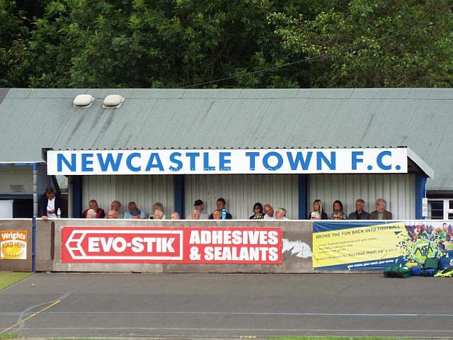 Vale fans at Newcastle Town