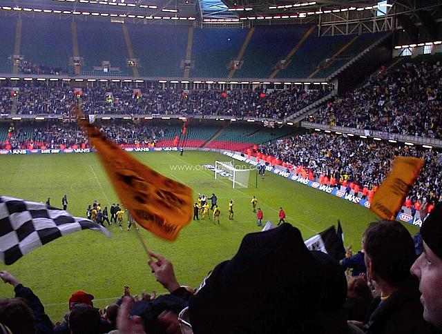 Vale fans at the Millennium Stadium