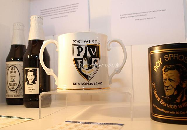 Exhibits including a Roy Sproson and 1983 promotion mugs