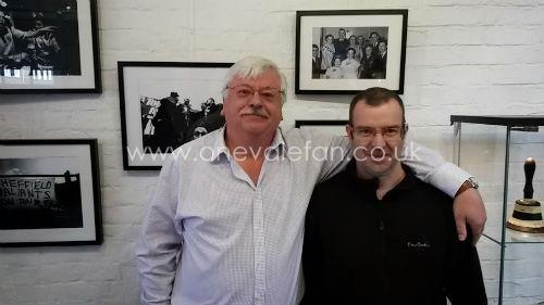Vale chairman Norman Smurthwaite and Rob Fielding at the exhibition
