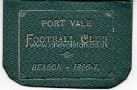 1886-87 Season ticket back