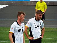 Sam Kelly and Sam Foley at Newcastle Town