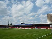 A view of the stadium at Crewe