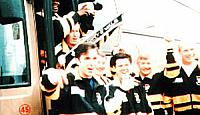 Bernie Slaven and players celebrate
