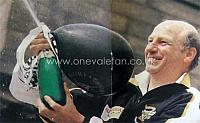 john Rudge with champagne