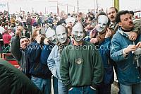 Fans with John Rudge masks
