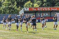The Vale squad warm up