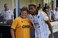 Cristian Montano with fan
