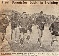 Paul Bannister in training