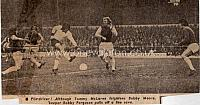 Tommy McLaren takes on Bobby Moore