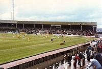 A packed Bycars stand for Port Vale v Northampton, 1982