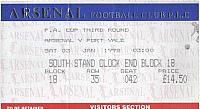 Arsenal v Port Vale 1998