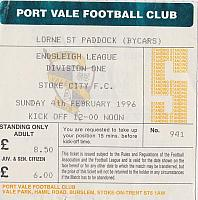 Port Vale v Stoke City 1996