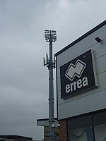 Floodlight next to the club shop