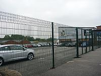 The fence in the Hamil Rd car park