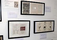 Exhibits including the FA semi-final programme
