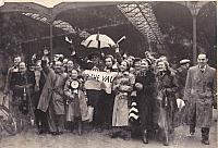 Fans on the way to Fulham 1961