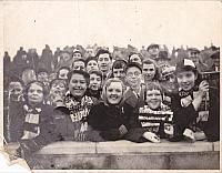 Supporters on the terraces