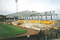 Construction of the new Bycars stand in the 1990s