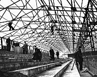 Construction of the Railway stand
