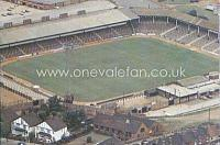 Aerial view of Vale Park in 1983