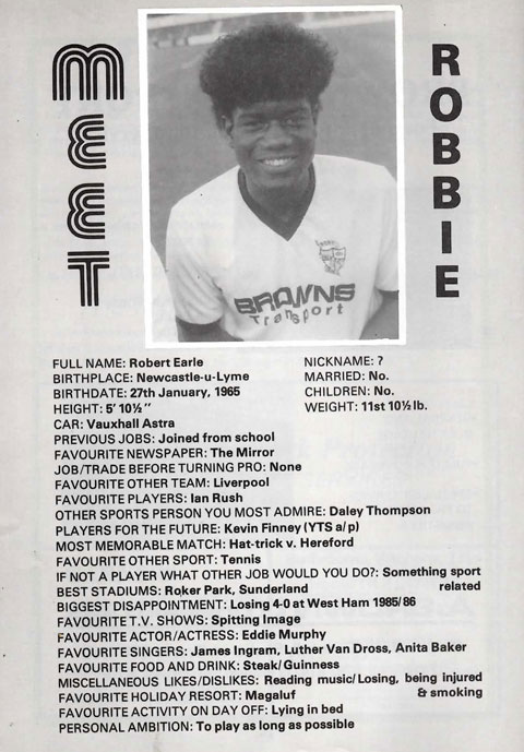 Robbie Earle interview