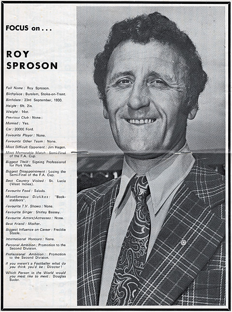 Roy Sproson interview
