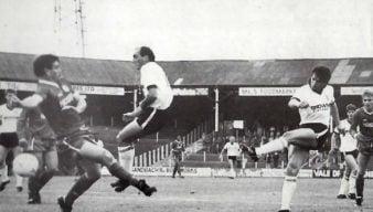 Port Vale striker Andy Jones takes a shot