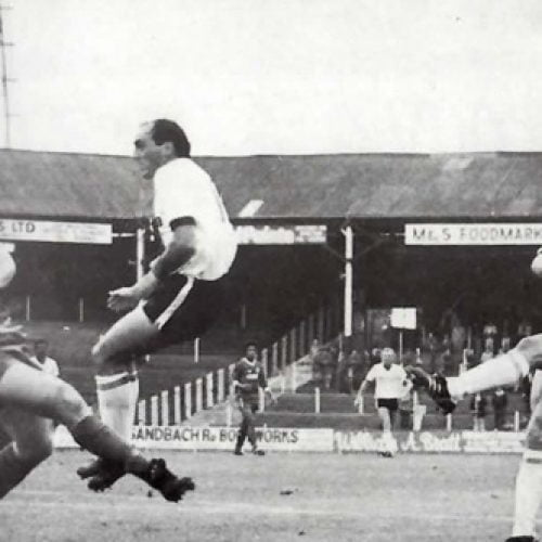 Port Vale striker Andy Jones takes a shot