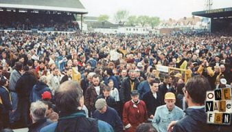 Port Vale fans at Brighton in 1994 as they are promoted