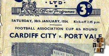 Cardiff City v Port Vale programme 1954