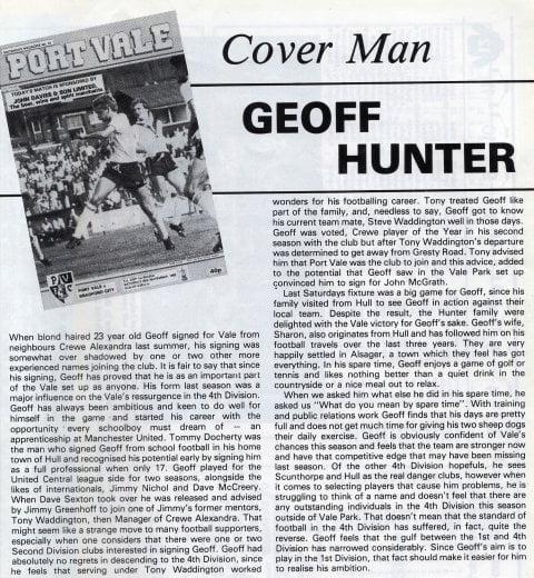 Geoff Hunter interview