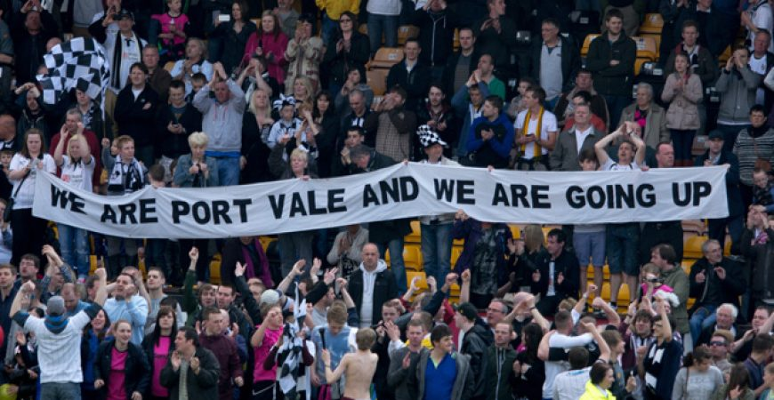 We are Port Vale and we are going up banner - 2013