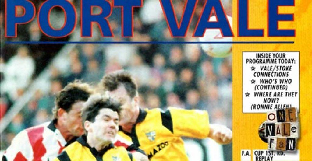Port Vale vs Stoke City 1992 programme