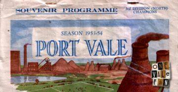 Port Vale v Wrexham matchday programme 1953-54