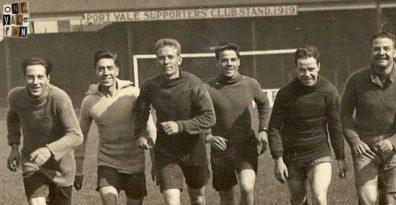 Port Vale players in training - 1920s