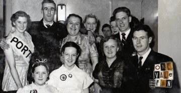 Port Vale players and supporters in the 1950s