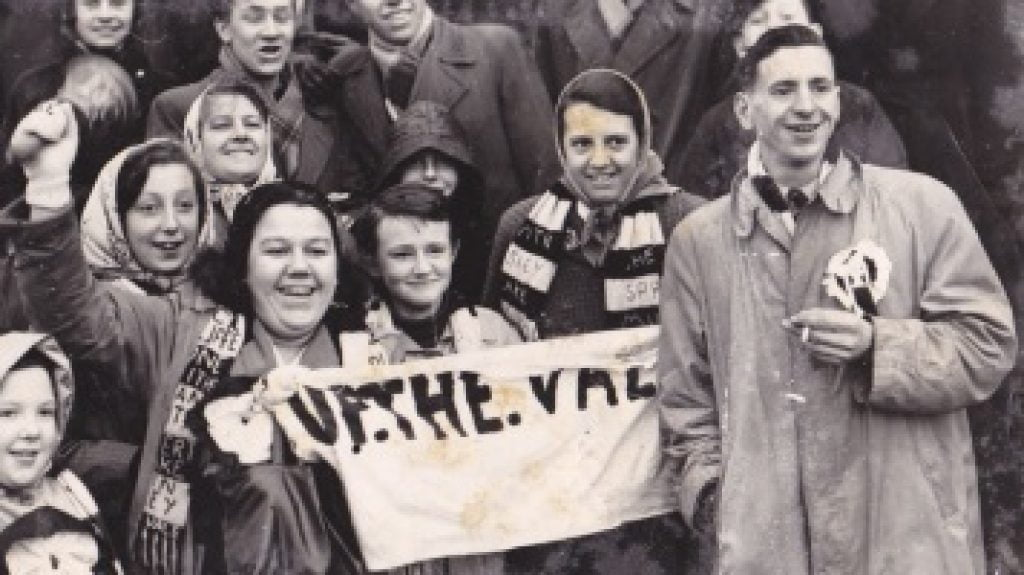 Port Vale fans at Fulham, 1961