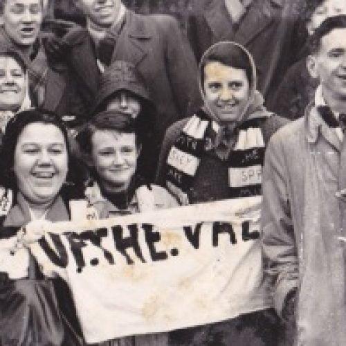 Port Vale fans at Fulham, 1961