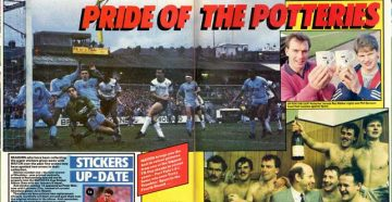 Match Weekly coverage of Port Vale's win over Spurs 1988 - clipping