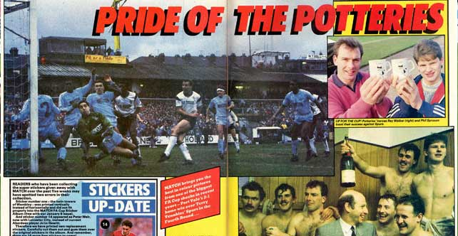 Port Vale Cup fever in Match magazine
