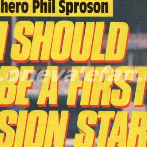 The Sproson revelation in Shoot magazine