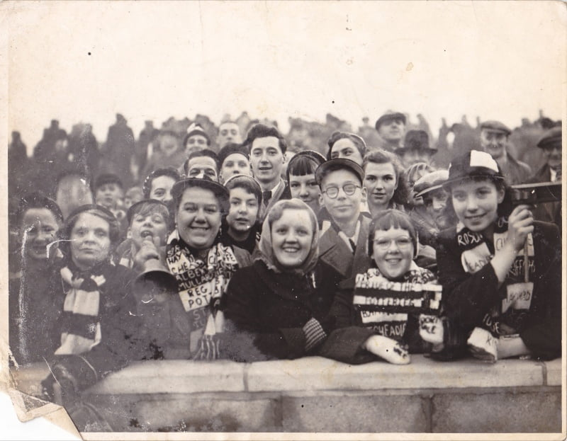 On the Vale Park terraces - another crowd shot