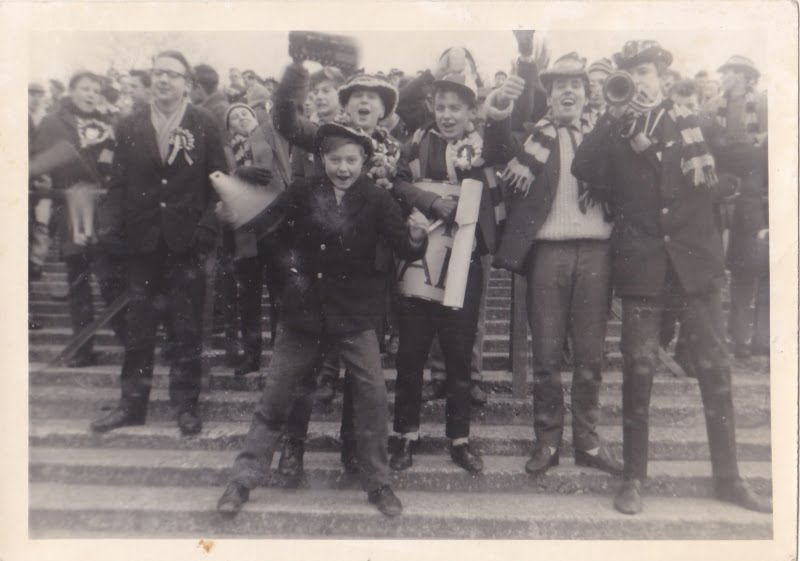 On the Vale Park terraces - younger fans