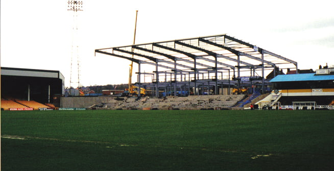 Construction of the Lorne Street stand, Vale Park stadium