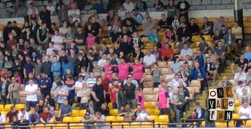The crowd at the Vale Park stadium 2013