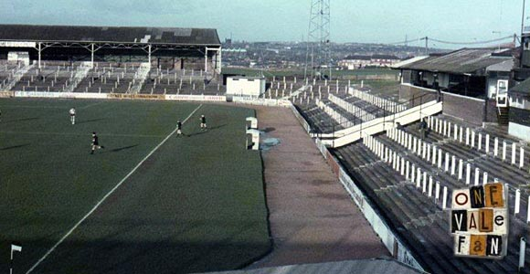 Terraces on the Lorne Street, Vale Park stadium