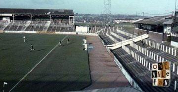 Terraces on the Lorne Street, Vale Park stadium