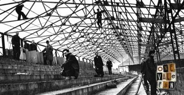 Construction of the Railway stand, Vale Park stadium